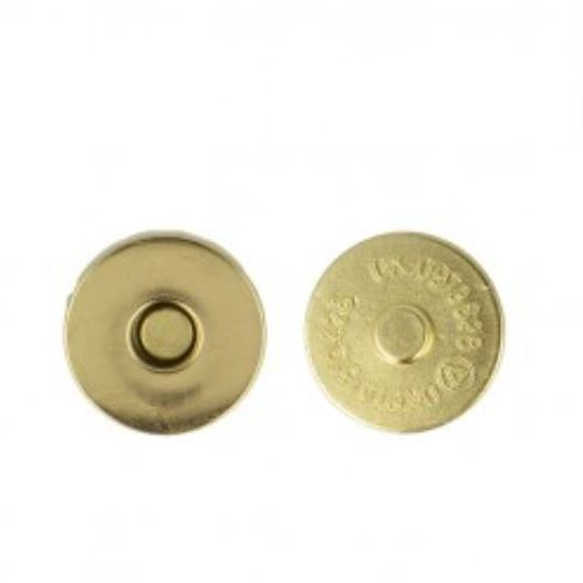 Magneetknoop 19mm 2st. - goud