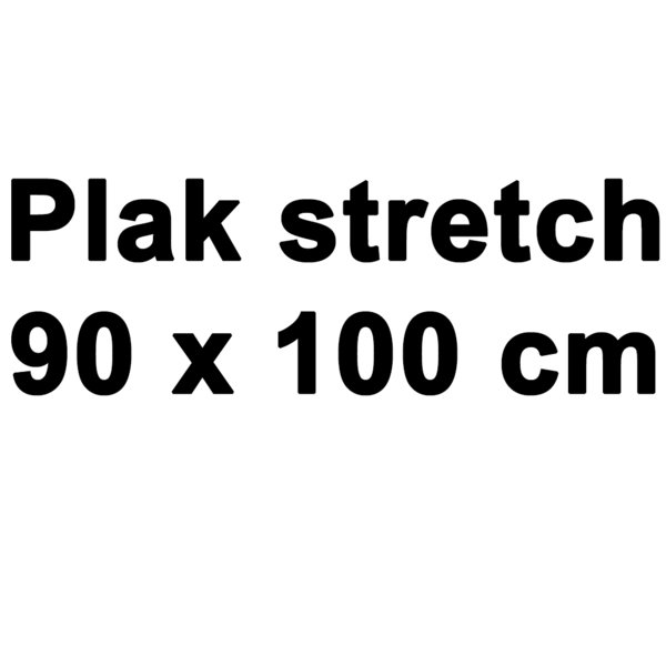Plak stretch 1 meter wit en zwart